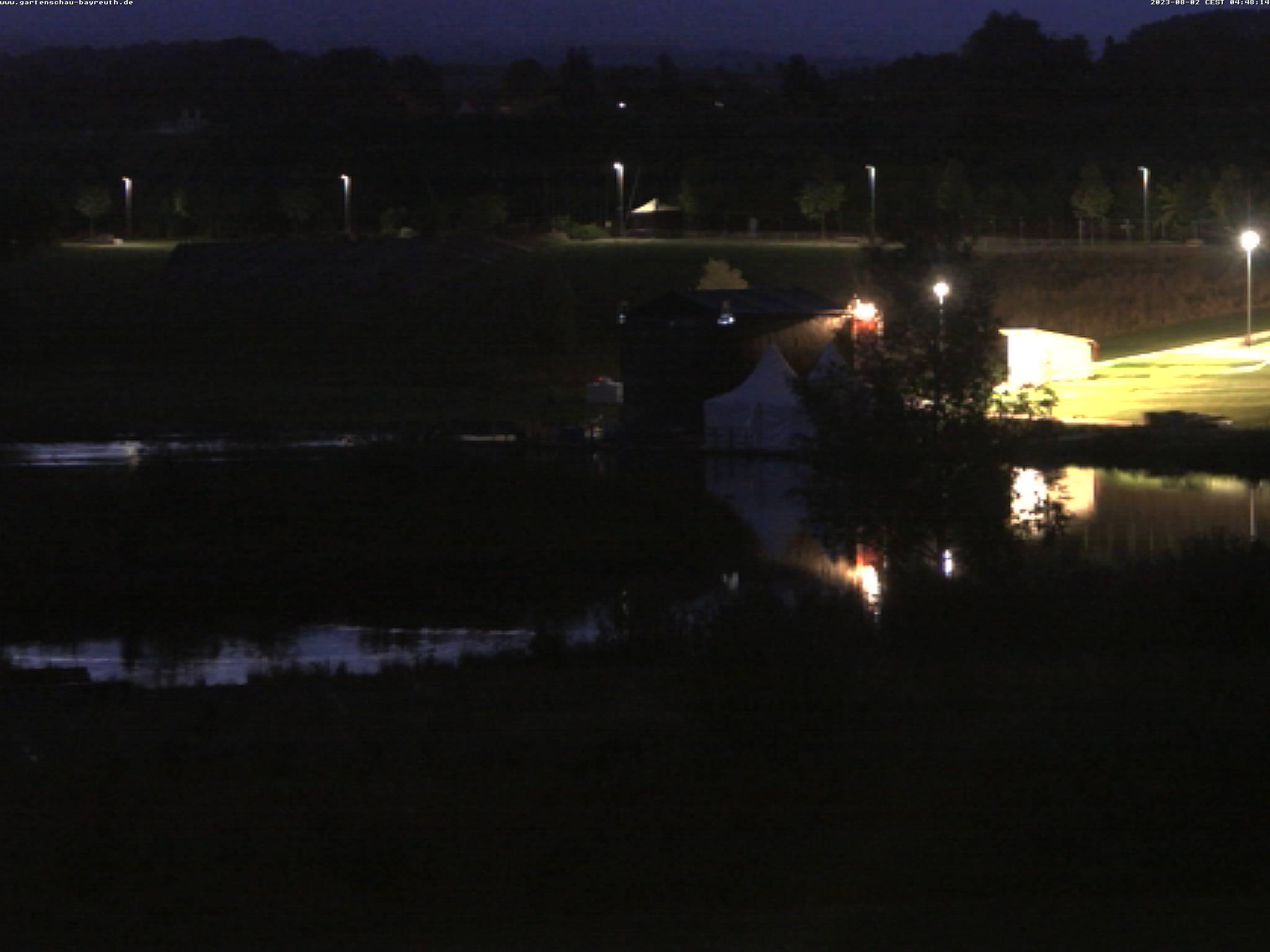 Tele-Ansicht des Landesgartenschaugeländes in Bayreuth
